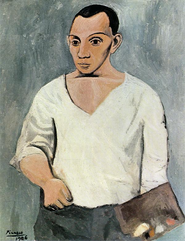 Картина Пабло Пикассо. Автопортрет с палитрой. 1906