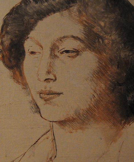 Пабло Пикассо. Портрет Фернанды Оливье, 1905-1906, фрагмент