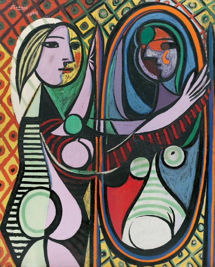 Картина Пабло Пикассо. Девушка перед зеркалом. 1932