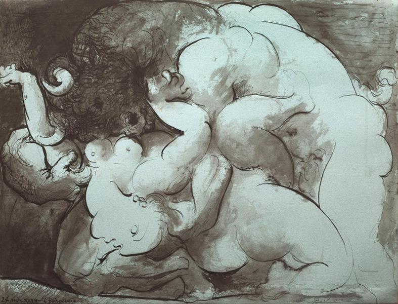 Картина Пабло Пикассо. Минотавр. 1933