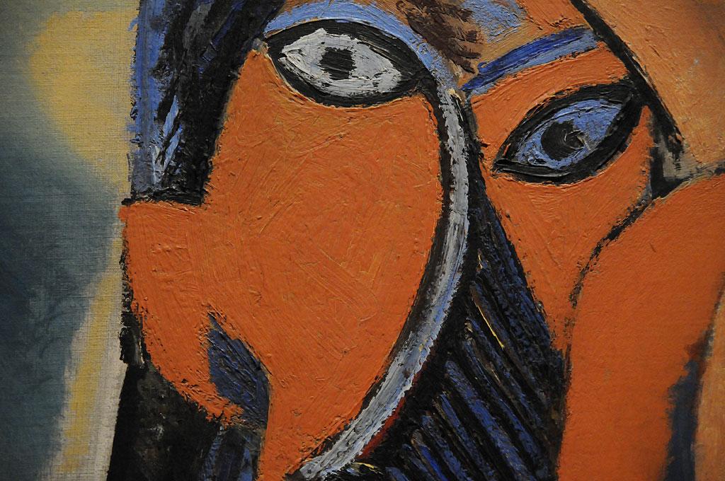 Фрагмент картины Пикассо Авиньонские девицы, 1907