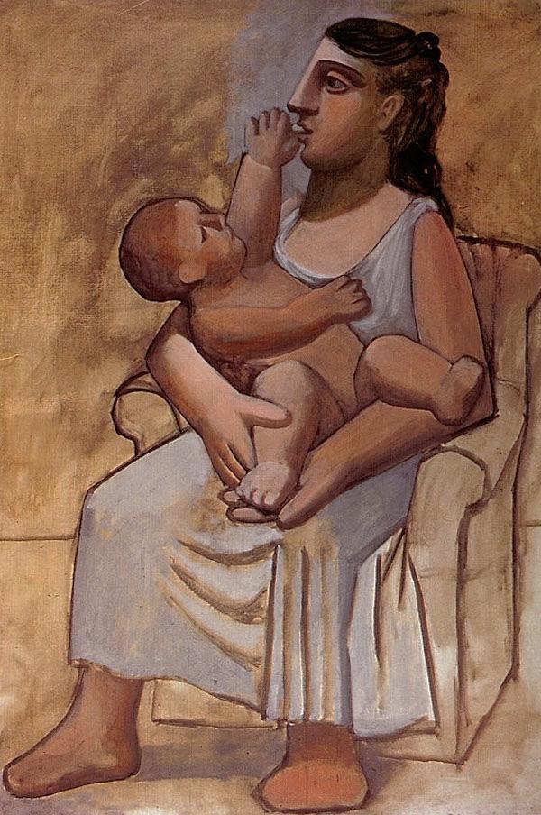 Картина Пабло Пикассо. Материнство. 1921