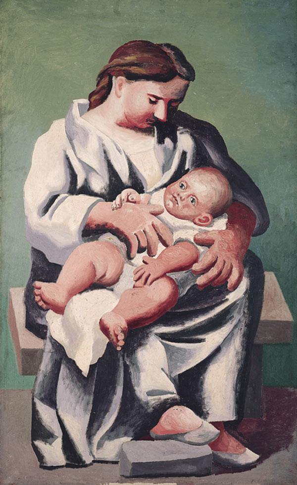 Картина Пабло Пикассо. Мать и дитя 1. 1921