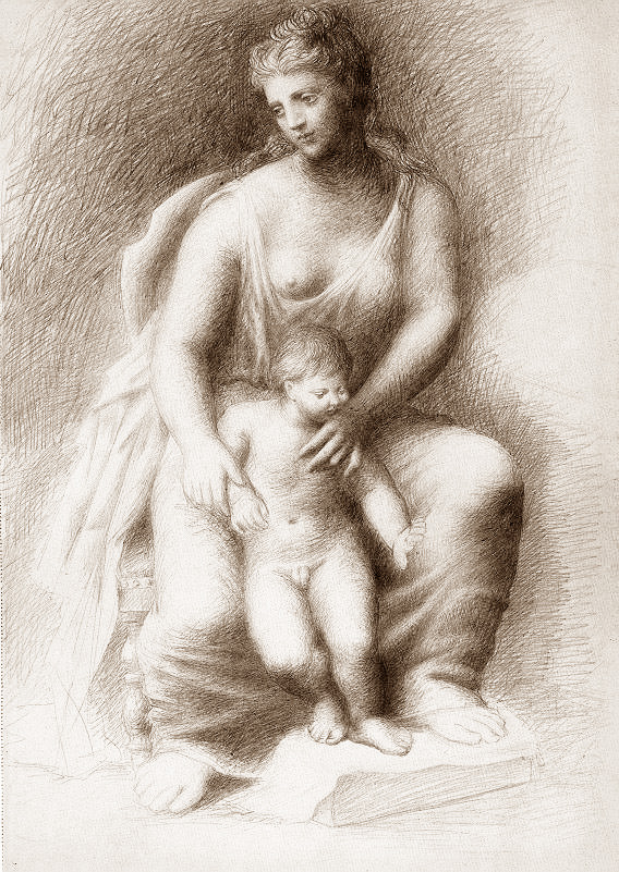 Картина Пабло Пикассо. Мать и дитя 3. 1922