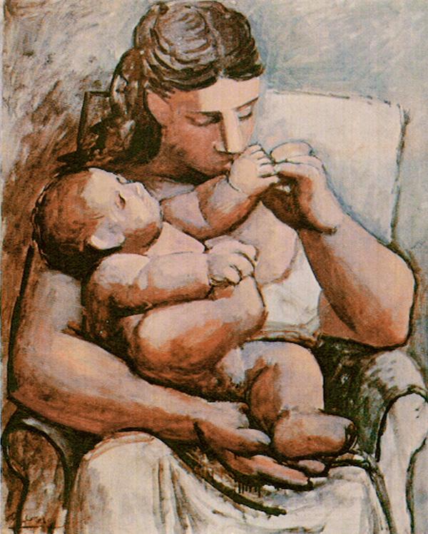 Картина Пабло Пикассо. Мать и дитя 3. 1921