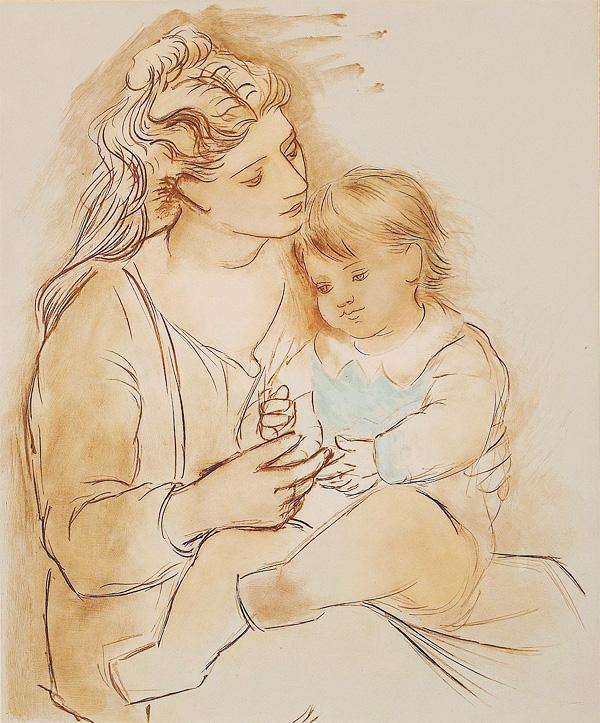 Картина Пабло Пикассо. Мать и дитя 2. 1922