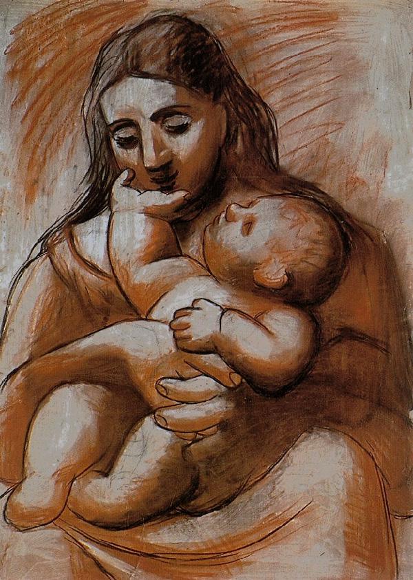 Картина Пабло Пикассо. Мать и дитя 4. 1921