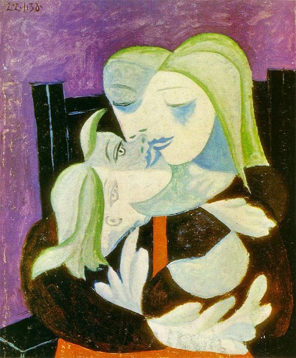 Картина Пабло Пикассо. Мать и дитя (Мария-Тереза и Майя). 1938