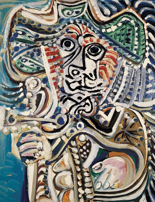 Картина Пабло Пикассо. Мушкетер с мечом. 1972