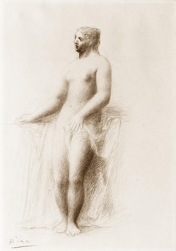 Картина Пабло Пикассо. Стоящая обнаженная. 1922