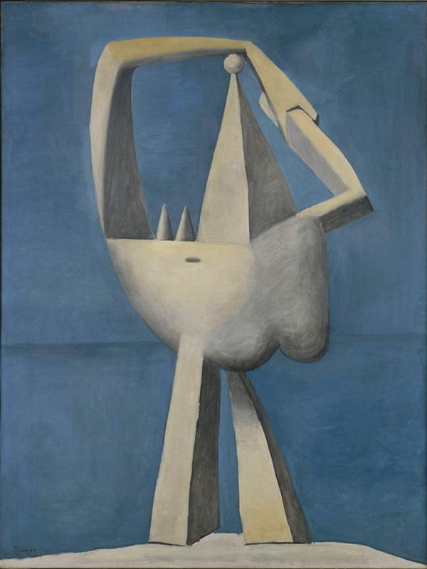 Картина Пабло Пикассо. Обнаженная, стоящая на берегу моря. 1929