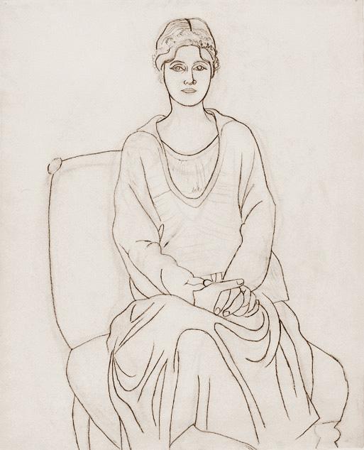 Картина Пабло Пикассо. Ольга с венком. 1920