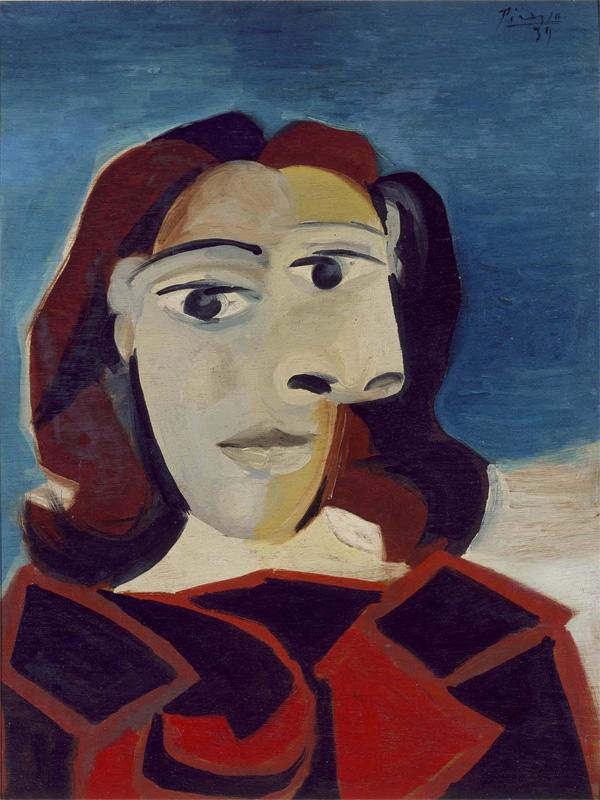 Картина Пабло Пикассо. Портрет Доры Маар. 1939