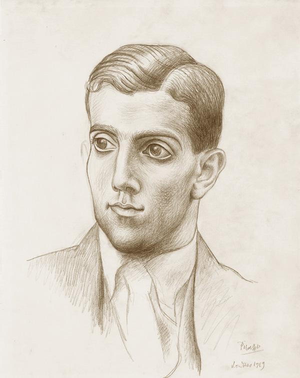 Картина Пабло Пикассо. Портрет Леонида Мясина. 1919
