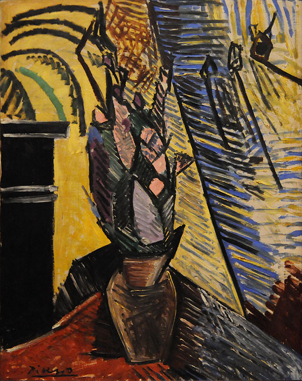Картина Пабло Пикассо. Ваза с цветами. 1908