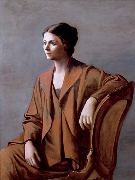 Картина Пабло Пикассо. Ольга Пикассо. 1923