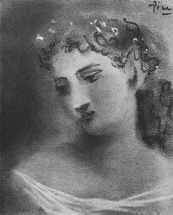 Картина Пабло Пикассо. Голова женщины (Сара Мерфи). 1923