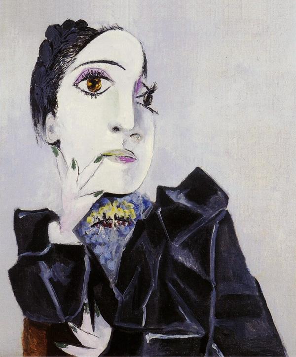 Картина Пабло Пикассо. Дора Маар с зелеными ногтями. 1936