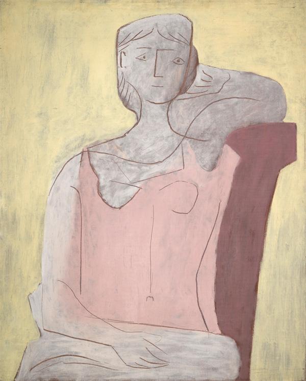 Картина Пабло Пикассо. Женщина в розовом. 1917 ($4,2 млн)