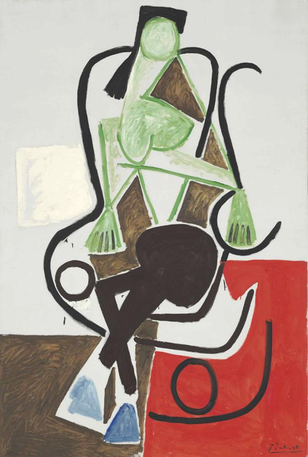 Картина Пабло Пикассо. Женщина в кресле-качалке. 1956 ($6,32 млн)