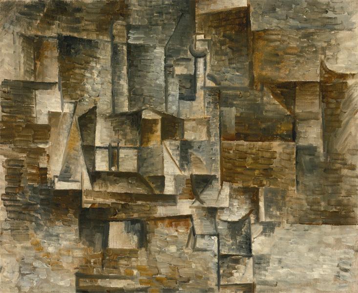 Картина Пабло Пикассо. Бутылка и книги. 1911 ($8,0 млн)