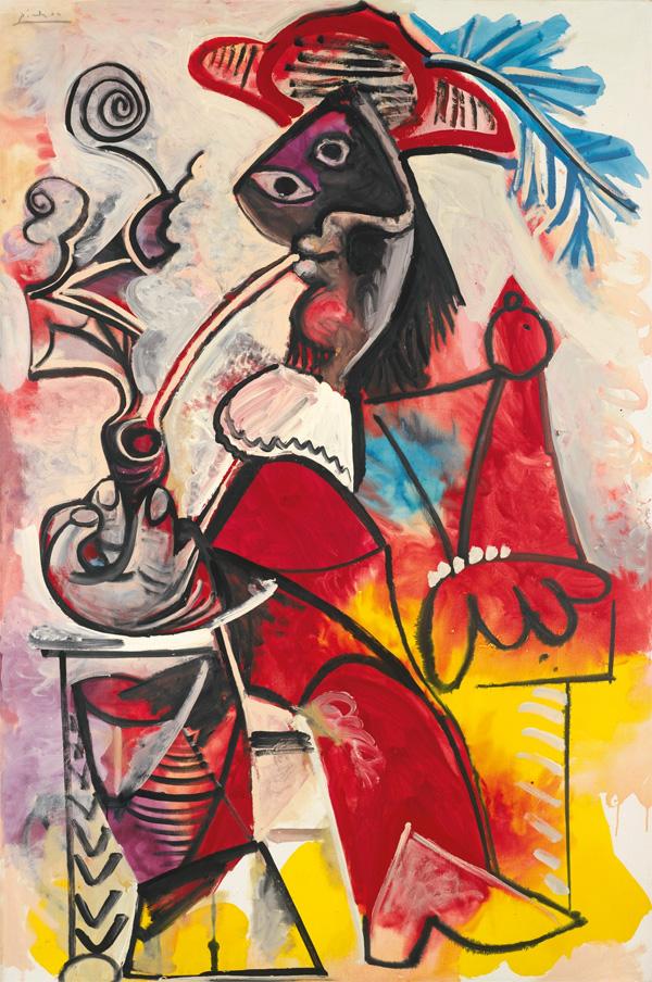 Pablo Picasso Mousquetaire a la pipe - Пабло Пикассо - Мушкетер с трубкой - 1969 - $30,9 млн