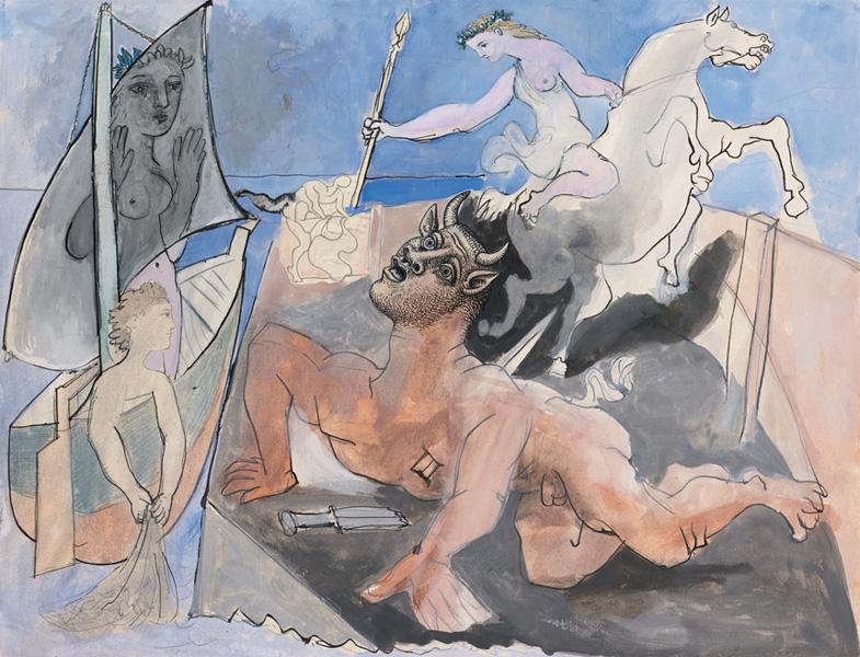 Картина Пабло Пикассо. Композиция с Минотавром. 1936 ($16,7 млн)