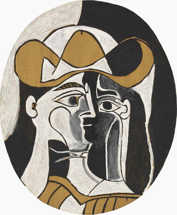 Картина Пабло Пикассо. Женщина в шляпе. 1961 ($4,1 млн)