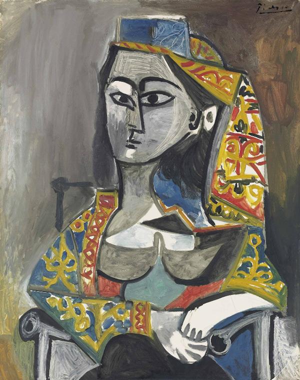Картина Пабло Пикассо. Женщина в турецком костюме в кресле. 1955 ($27,7 млн)