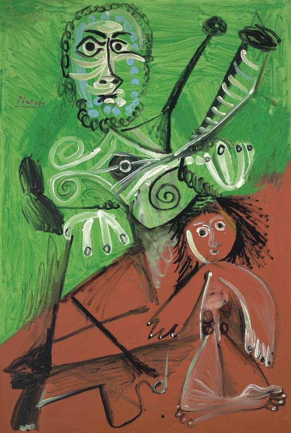 Картина Пабло Пикассо. Мужчина и ребенок. 1969 ($7,7 млн)