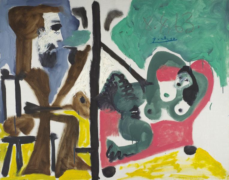 Картина Пабло Пикассо. Художник и модель 4. 1963