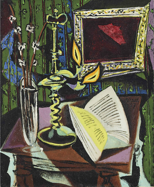Картина Пабло Пикассо. Натюрморт с подсвечником. 1937 ($5,8 млн)