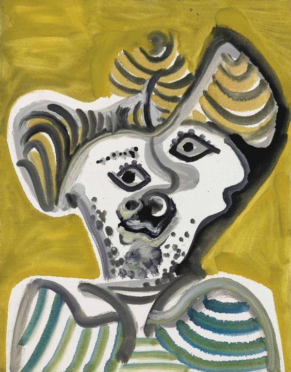 Картина Пабло Пикассо. Голова мужчины. 1972 ($4,5 млн)