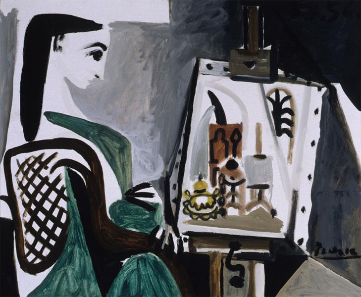 Картина Пабло Пикассо. Женщина в студии (Жаклин Рок). 1956