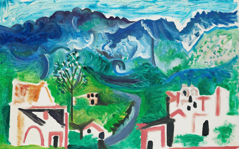 Картина Пабло Пикассо. Средиземноморский пейзаж. 1963 ($2,0 млн)