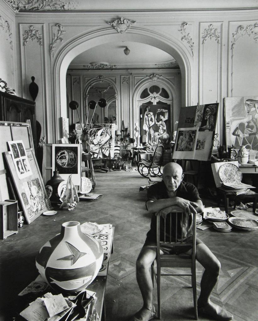 Пабло Пикассо, вилла Калифорния, Канны 1956. Арнольд Ньюман, фото 1