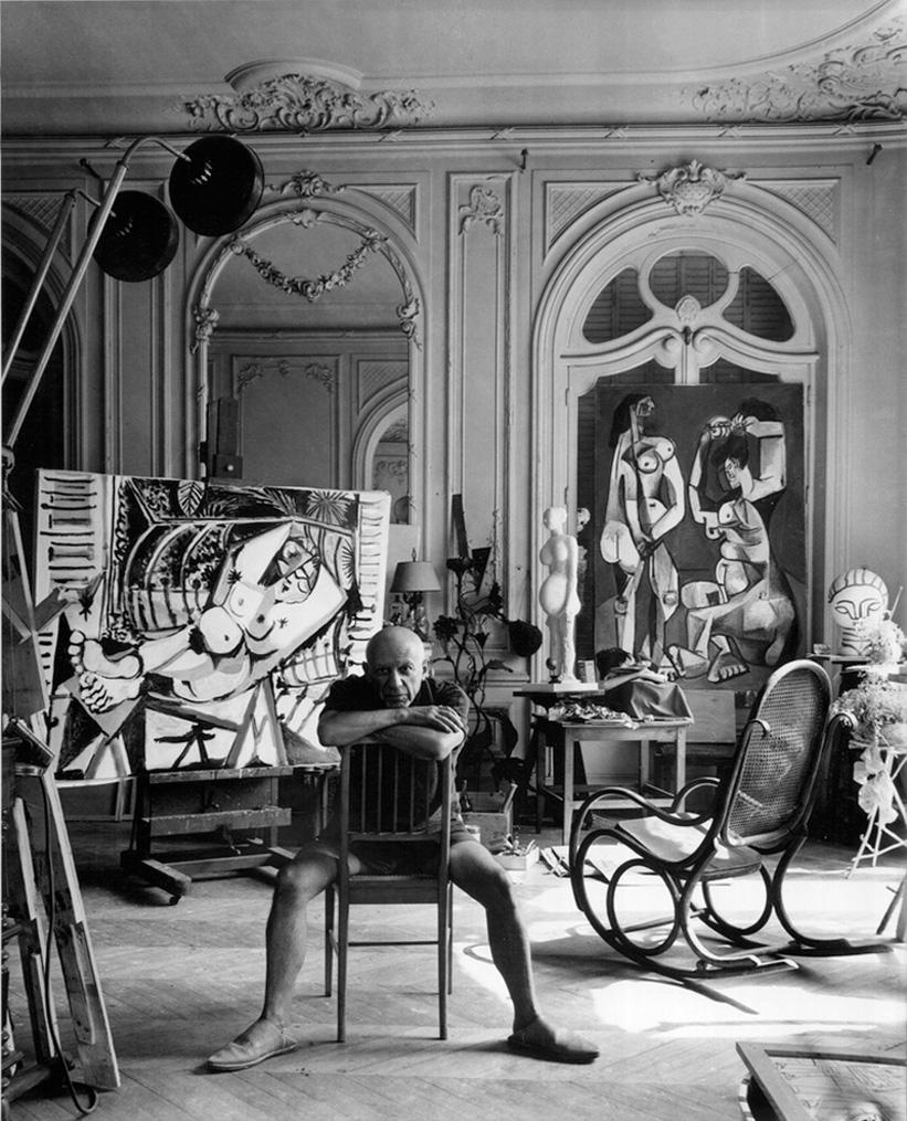 Пабло Пикассо, вилла Калифорния, Канны 1956. Арнольд Ньюман, фото 2