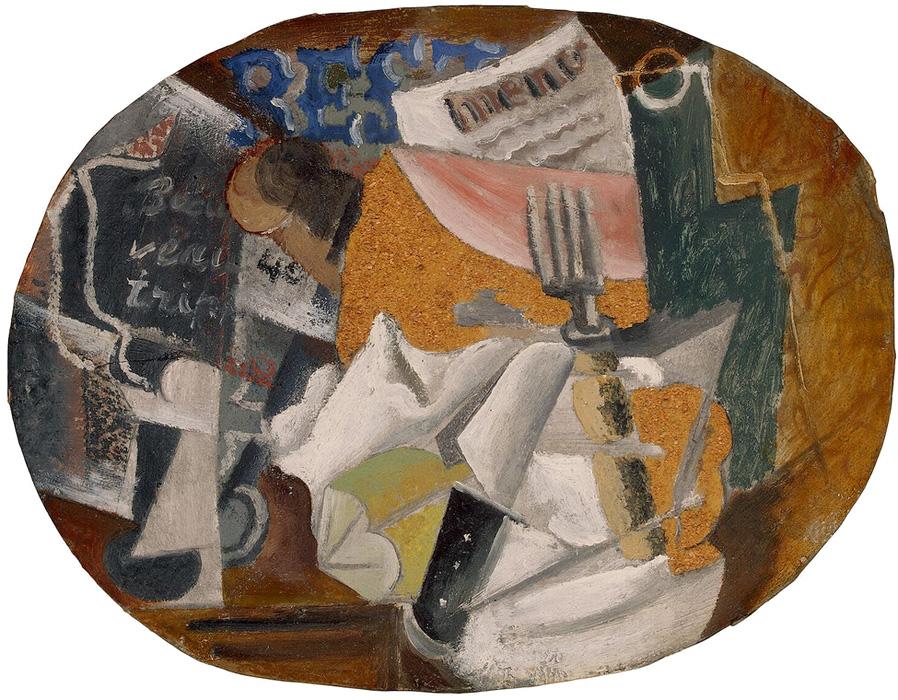 Картина Пабло Пикассо. Харчевня (Ветчина). 1914