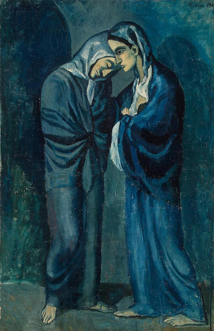 Картина Пабло Пикассо. Две сестры (Свидание). 1902