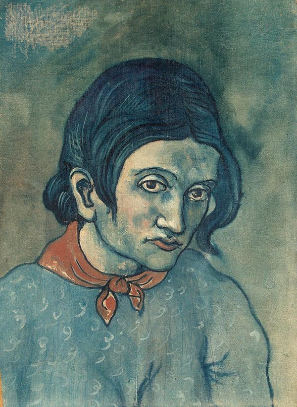 Картина Пабло Пикассо. Портрет молодой женщины. 1903
