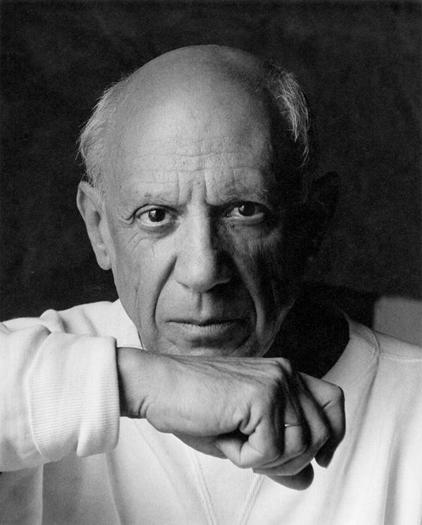 Портрет Пабло Пикассо, Валлорис, 1954. Фото — Арнольд Ньюман