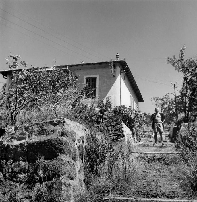 Пабло Пикассо, вилла Галуа, Валлорис, 1948. Фото Роберта Капы