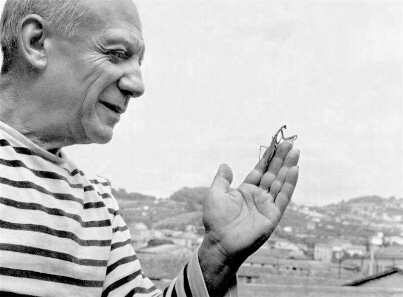 Пикассо и богомол, Валлорис, 1952. Робер Дуано, фото 1