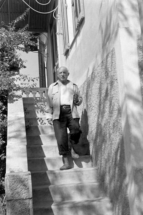 Пабло Пикассо, вилла Галуа, Валлорис, 1952. Фото Дениз Коломб