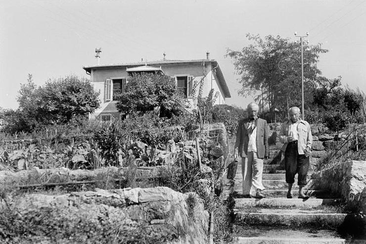 Пабло Пикассо, вилла Галуа в Валлорисе, 1952. Фото Дениз Коломб