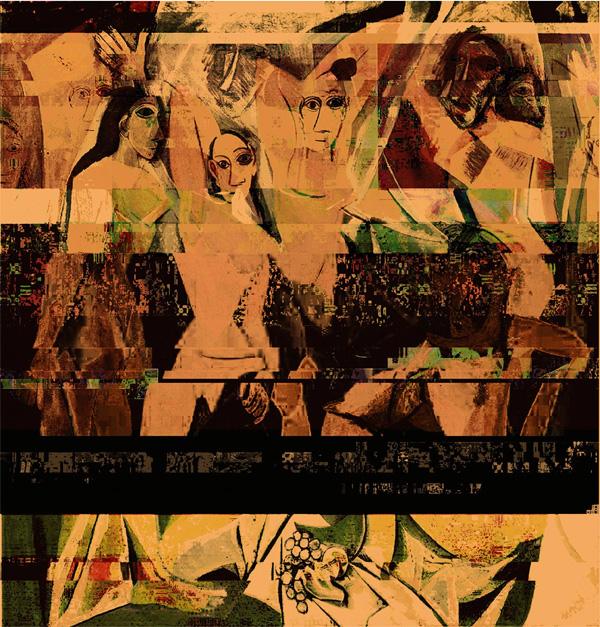 Ремейк картины Пикассо Авиньонские девицы