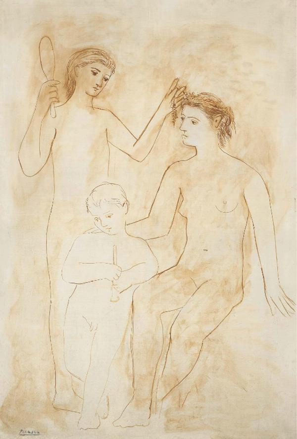 Картина Пабло Пикассо. Две женщины и ребенок. 1922 ($13,04 млн)