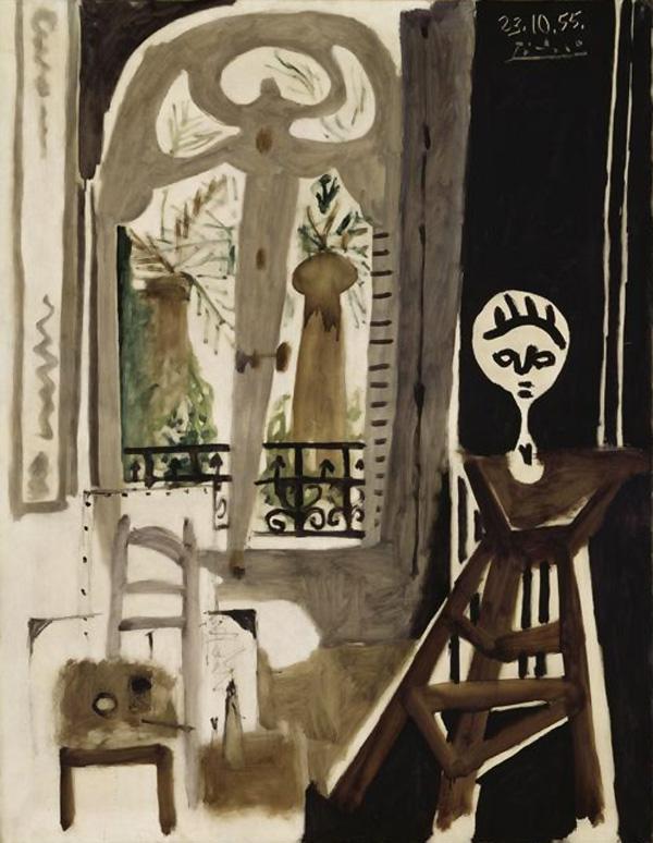 Картина Пабло Пикассо. Студия. 1955