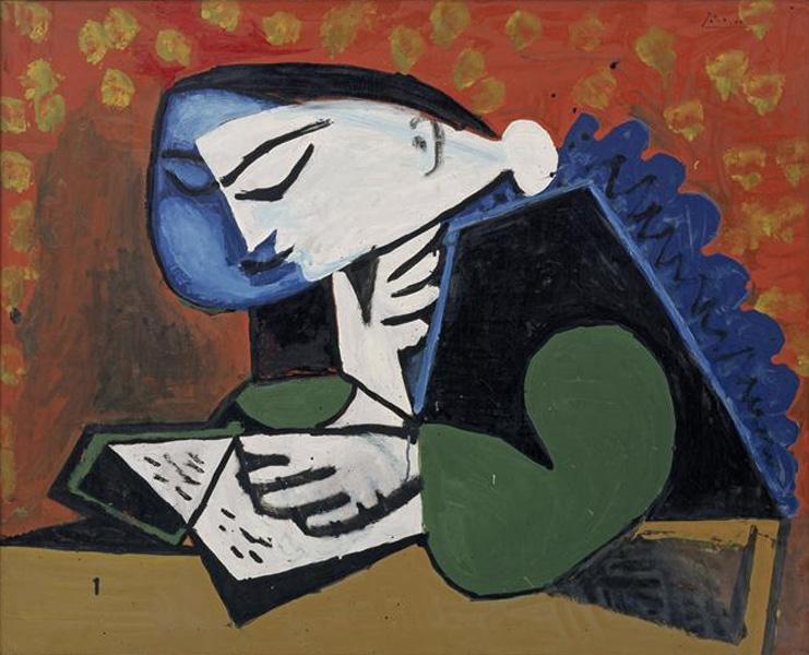 Картина Пабло Пикассо. Чтение. 1953