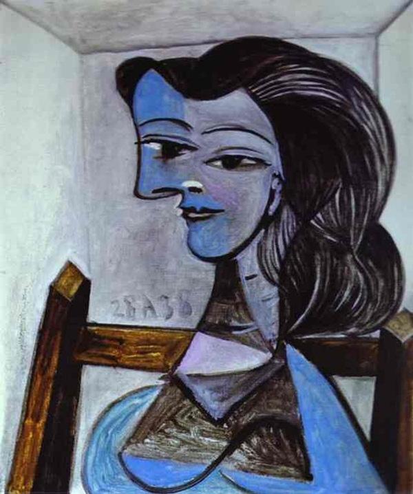 Картина Пабло Пикассо. Портрет Нюш Элюар. 1938